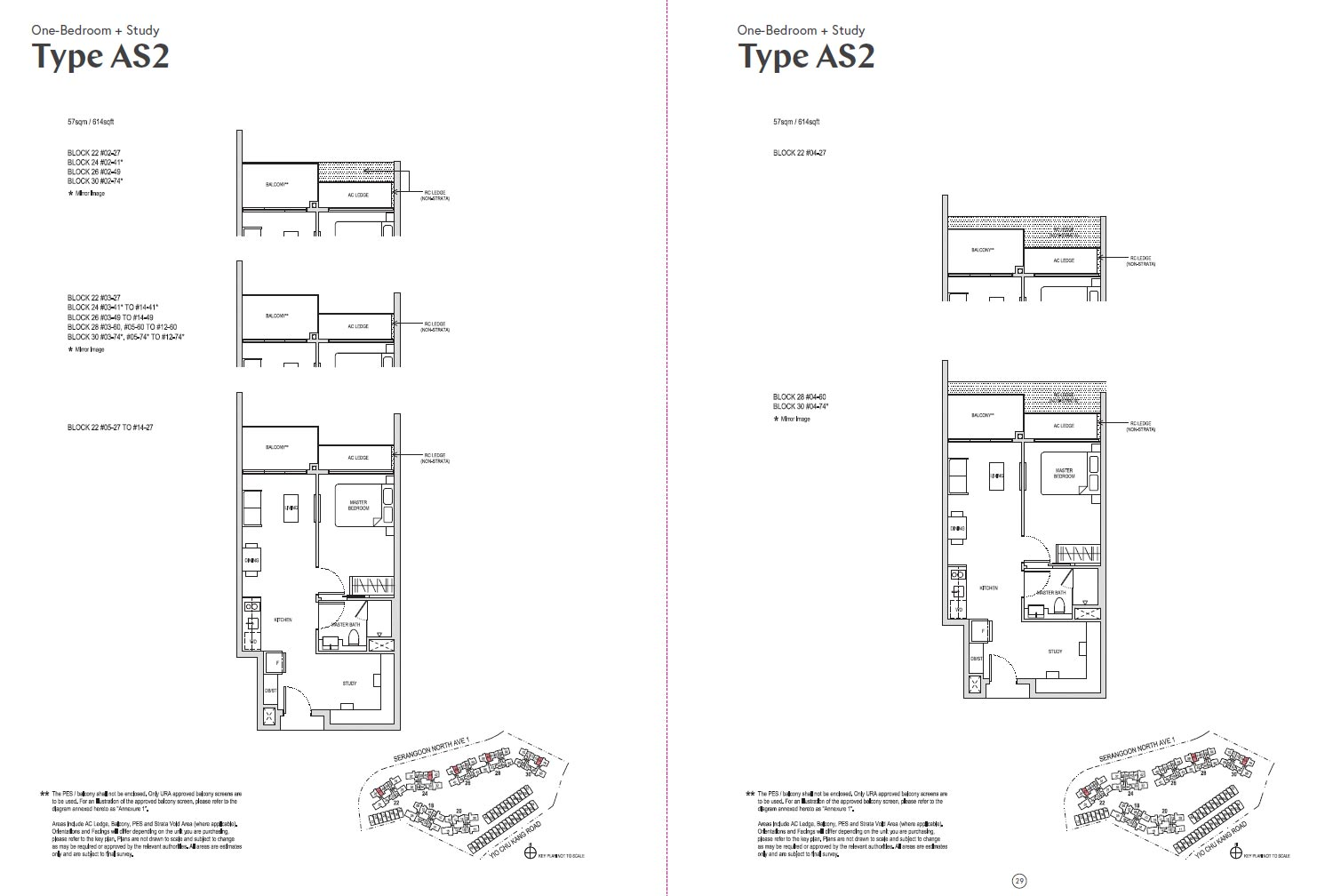 Affinity At Serangoon Floor Plan - AS2