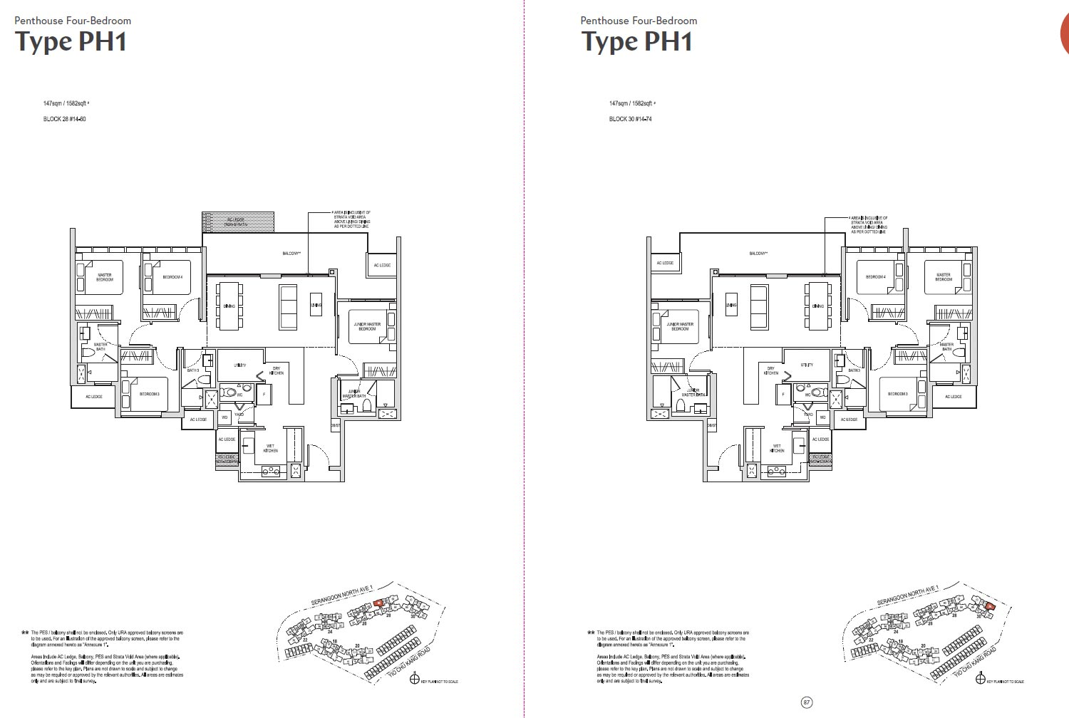 Affinity At Serangoon Floor Plan - PH1